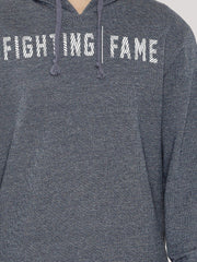 Fighting Fame Blue Melange Print Popover Hoodie - Fighting Fame  - 5