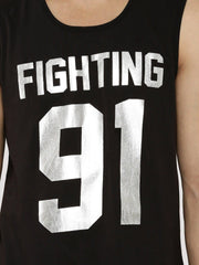 Fighting Fame 91 Silver Foil Printed Vest - Fighting Fame  - 5