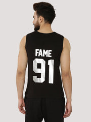 Fighting Fame 91 Silver Foil Printed Vest - Fighting Fame  - 3