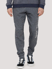 Fighting Fame Print Blue Melange Joggers - Fighting Fame  - 4