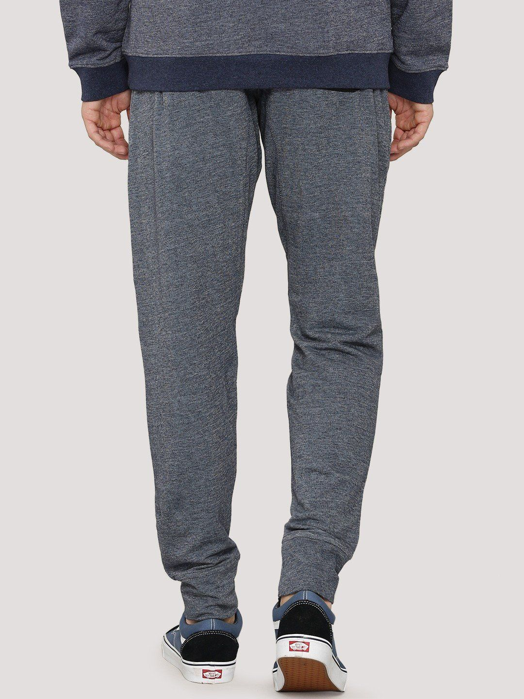 Fighting Fame Print Blue Melange Joggers - Fighting Fame  - 3