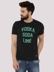 Vodka Soda Lime Black T-Shirt - Fighting Fame  - 2