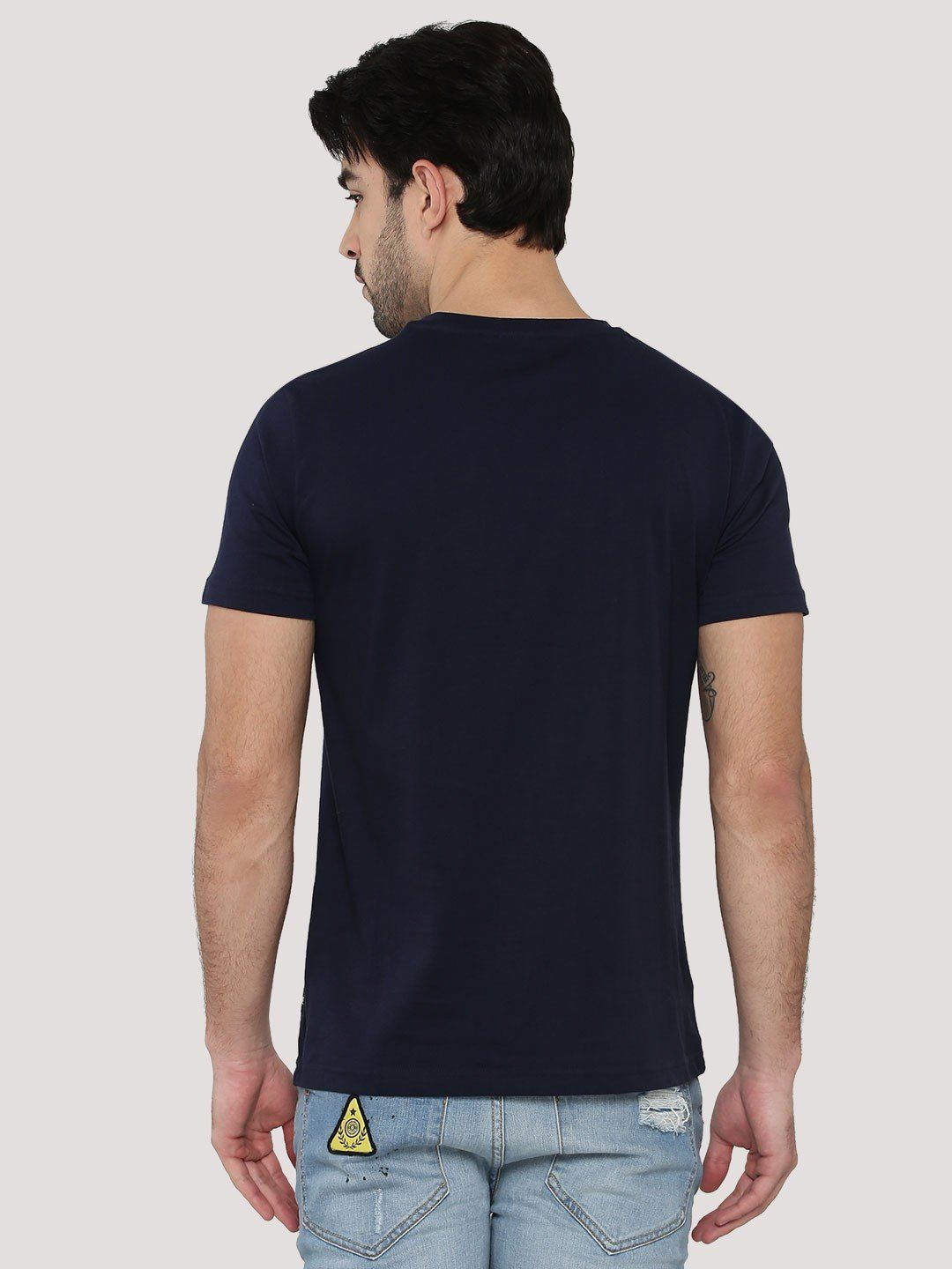 Patron And Chill Navy Blue T-Shirt - Fighting Fame  - 4