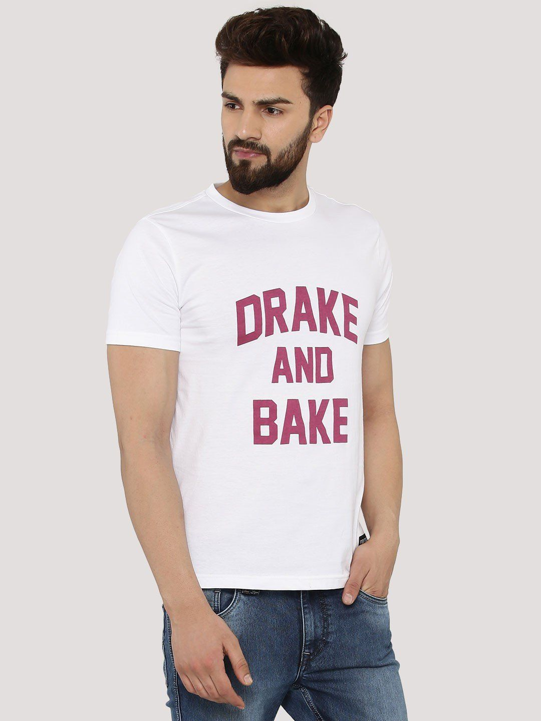 Drake And Bake White T-Shirt - Fighting Fame  - 3