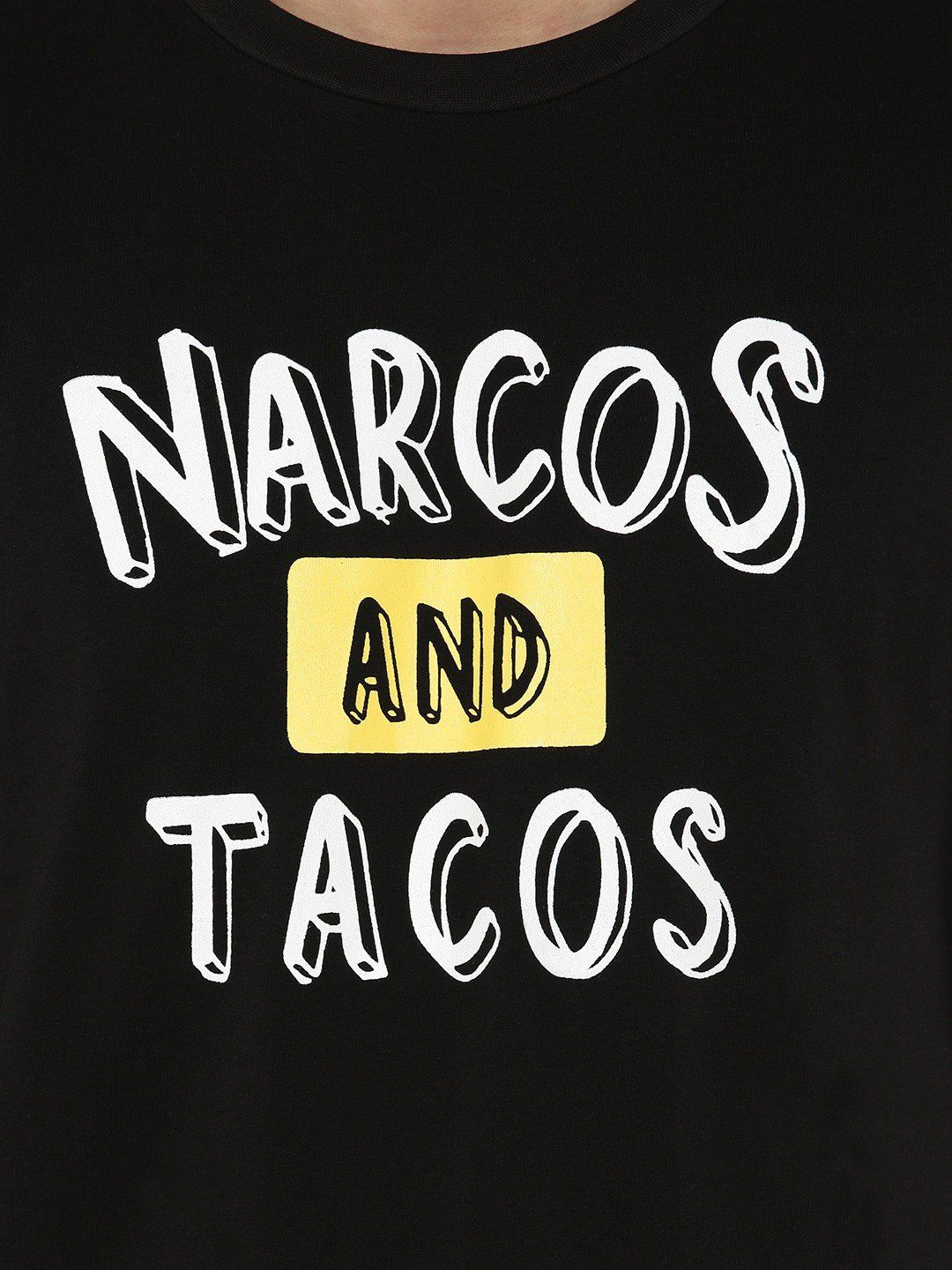 Narcos And Tacos Black T-Shirt - Fighting Fame  - 4
