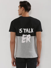 BAD ASS / STALK ER Cut And Sew T-Shirt