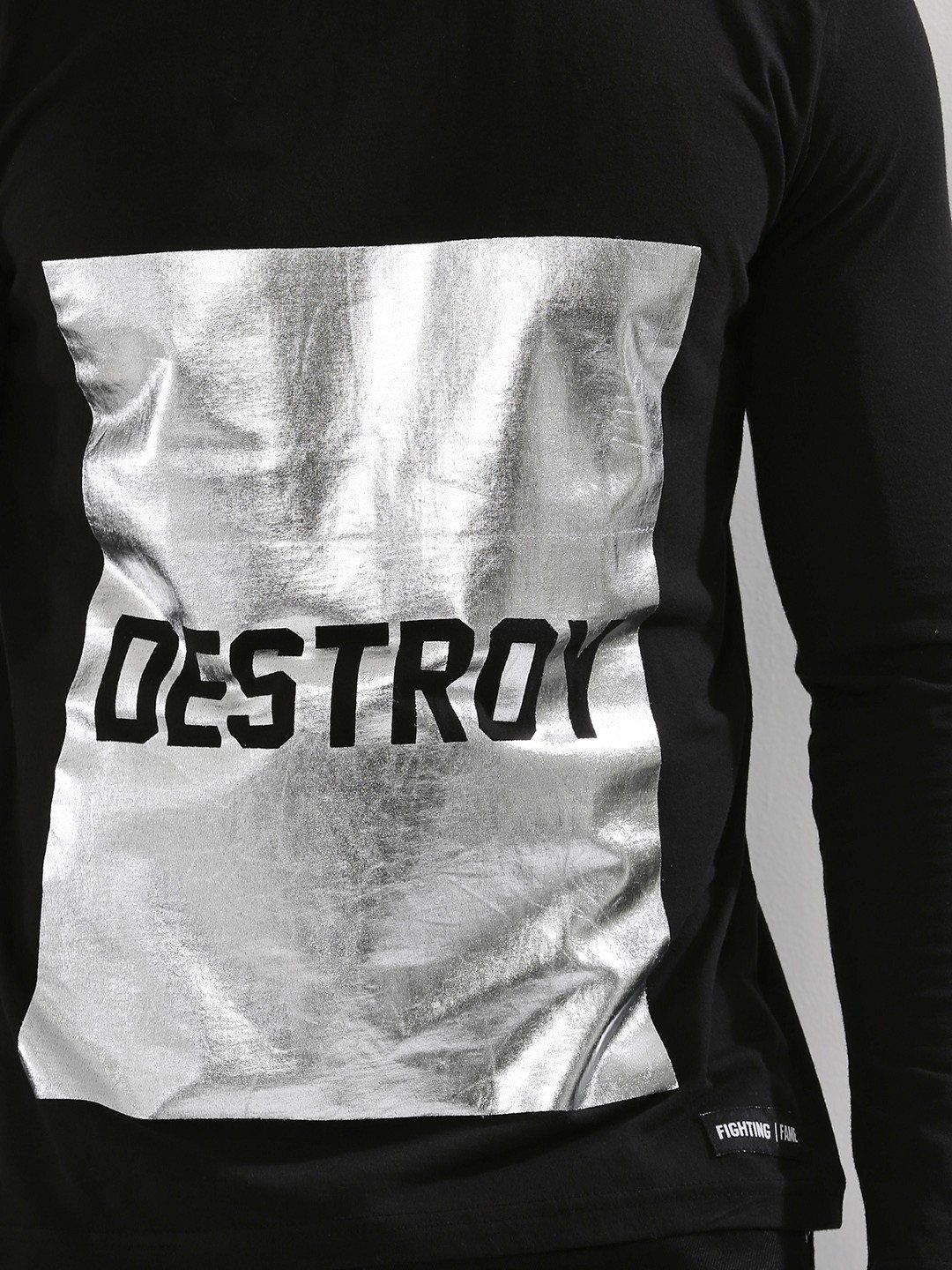 DESTROY Black Full Sleeves T-Shirt