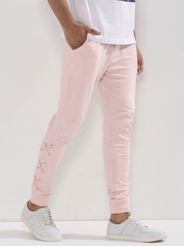 XXX Embroidered Pink Joggers