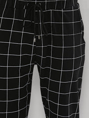 Windowpane Checks Black Joggers
