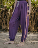 The Violet With Red Side Tape Unisex Aaram Pants