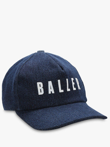 BALLER Slogan Printed Denim Cap