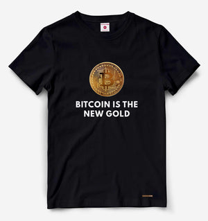 Bitcoin Is The New Gold Black Tee