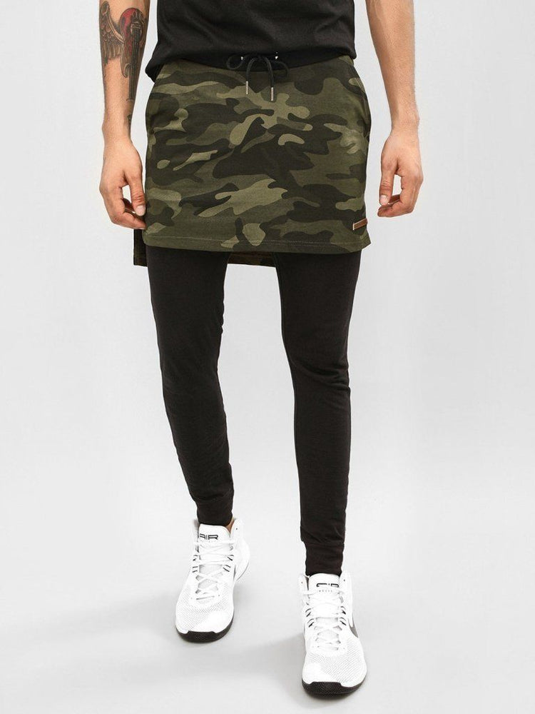 Black Camo Layered Joggers