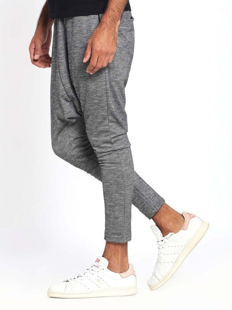 Charcoal Drop Crotch Skinny Joggers
