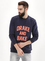 Drake And Bake Navy Blue Sweatshirt