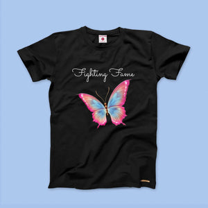 Fighting Fame Butterfly Black Tee