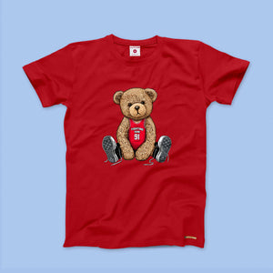 Fighting Fame Teddy Baller Red Tee