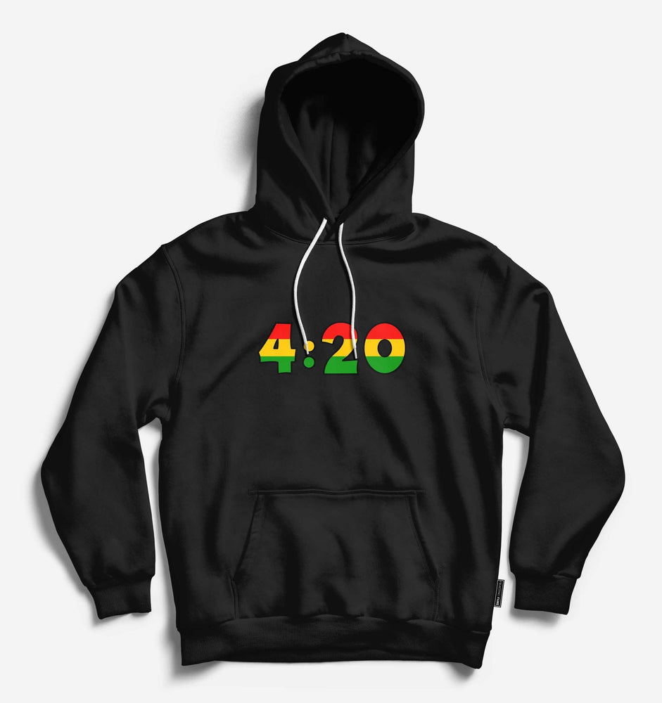 420 Lifestyle Unisex Black Long Sleeve Tee With Hood