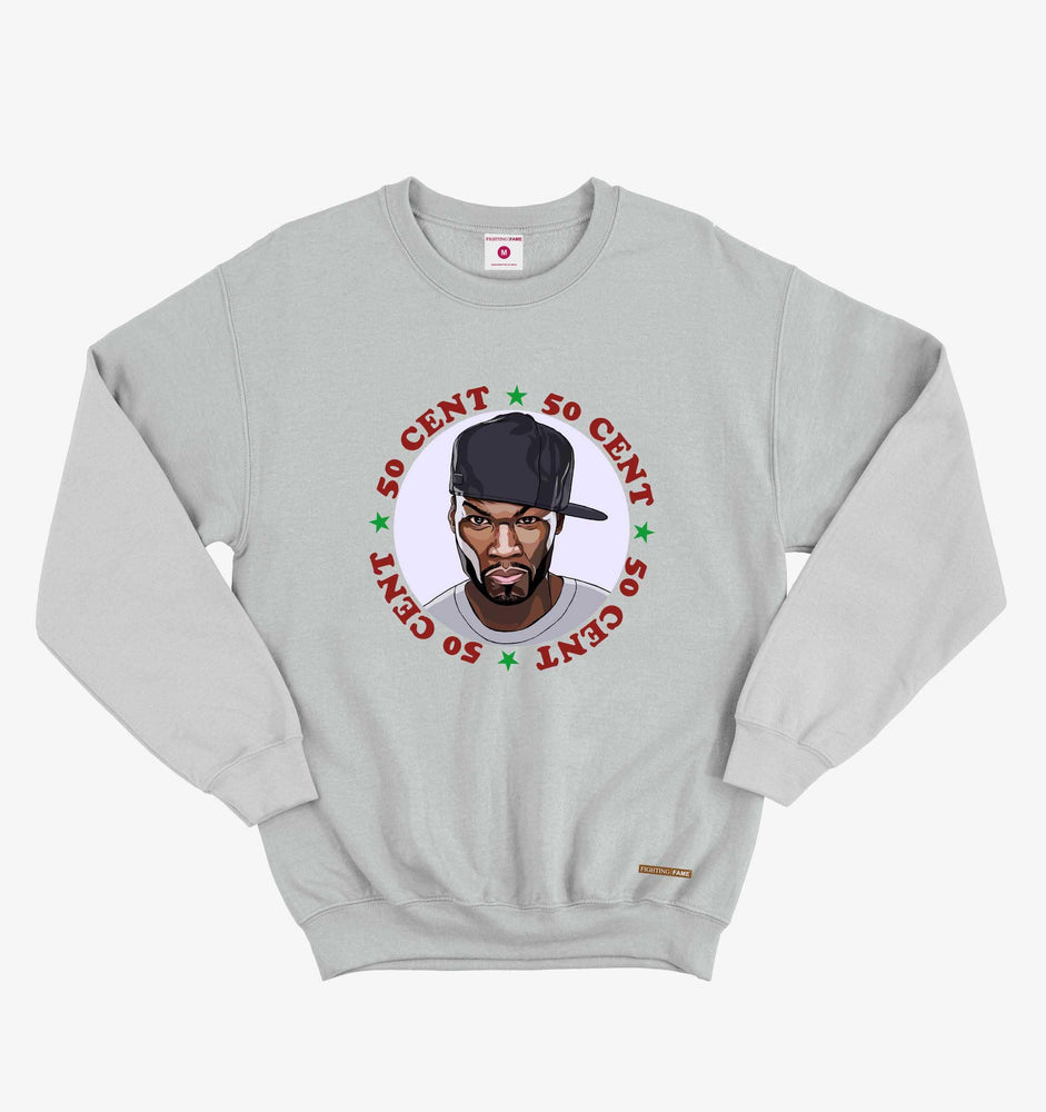 Fighting Fame 50 Cent Lt.Grey Hip Hop Sweatshirt