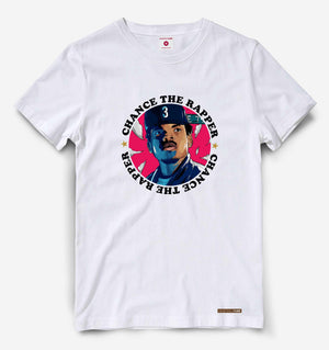 Fighting Fame Chance The Rapper White Hip Hop Tee