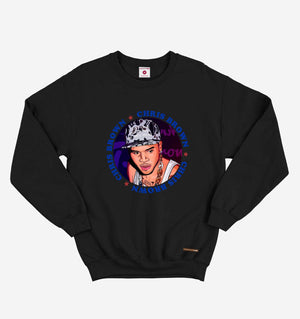 Fighting Fame Chris Brown Black Hip Hop Sweatshirt