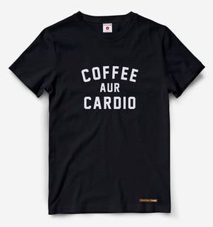 Coffee Aur Cardio Black Tee