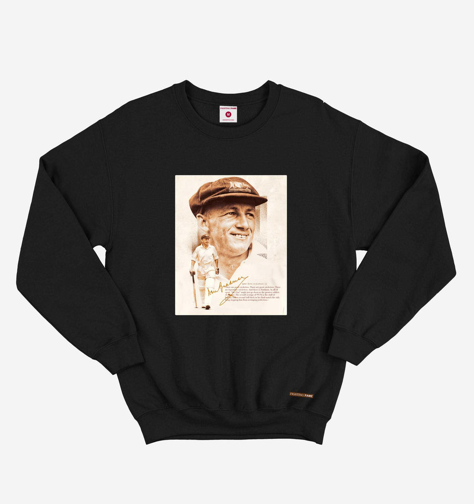 GOAT Don Bradman Black Long Sleeve Tee