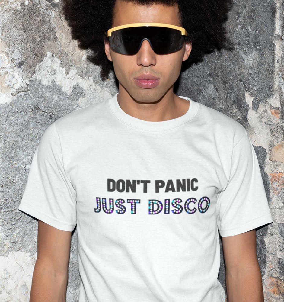 Don't Panic Just Disco White Tee