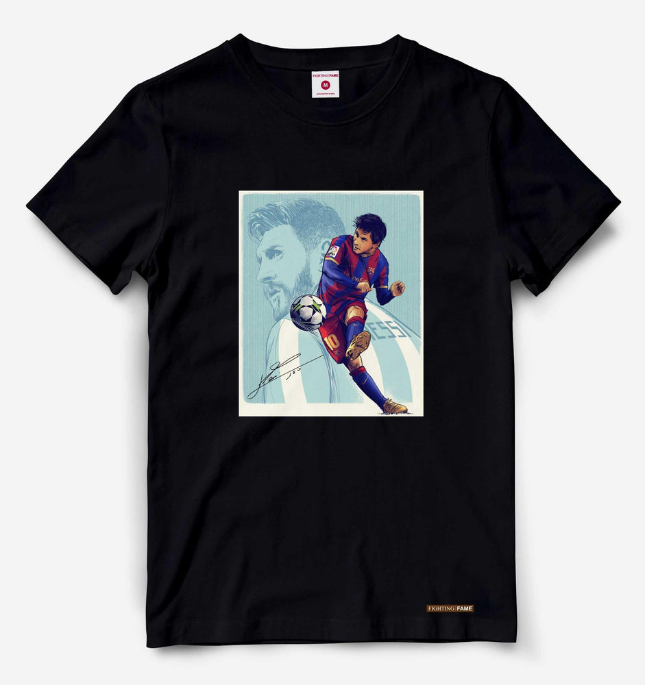 GOAT Lionel Messi Black Tee