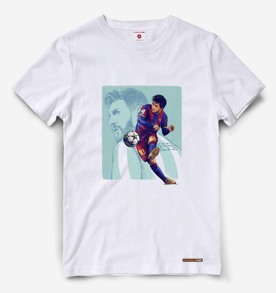 GOAT Lionel Messi White Tee