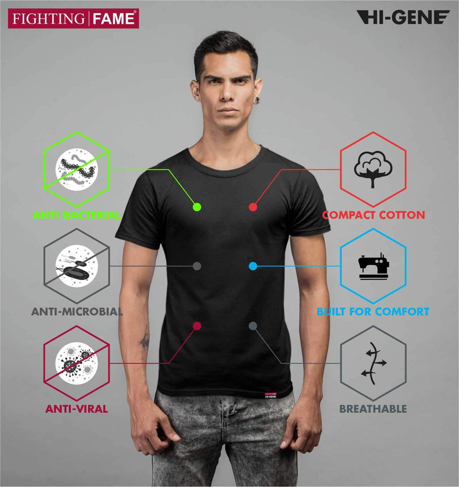 Fighting Fame Anti-Microbial Hi-Gene Black T-Shirt