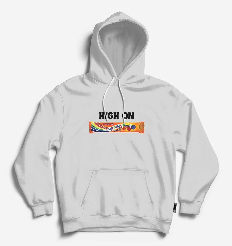 High on Poppins Unisex Lt.Grey Hoodie