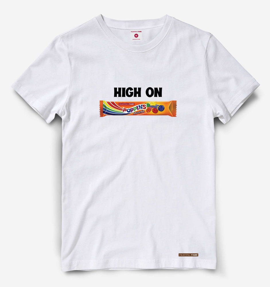 High on Poppins White Tee