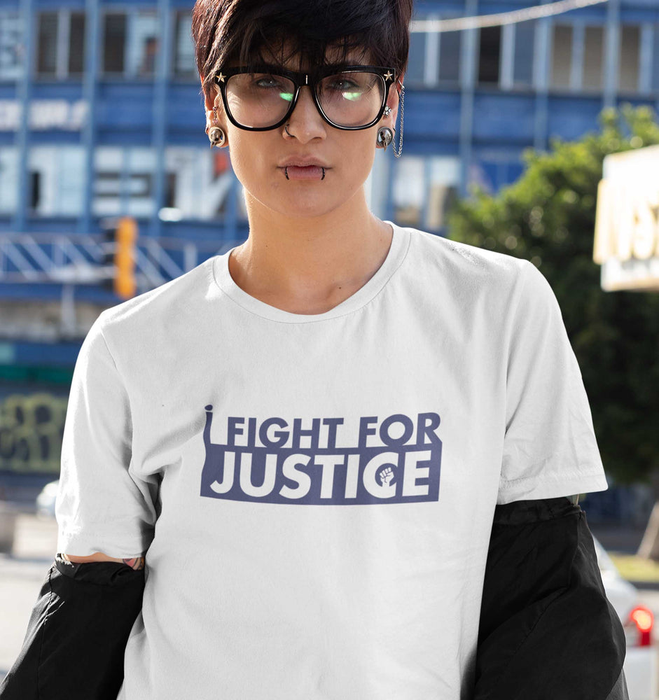 I Fight For Justice White Tee