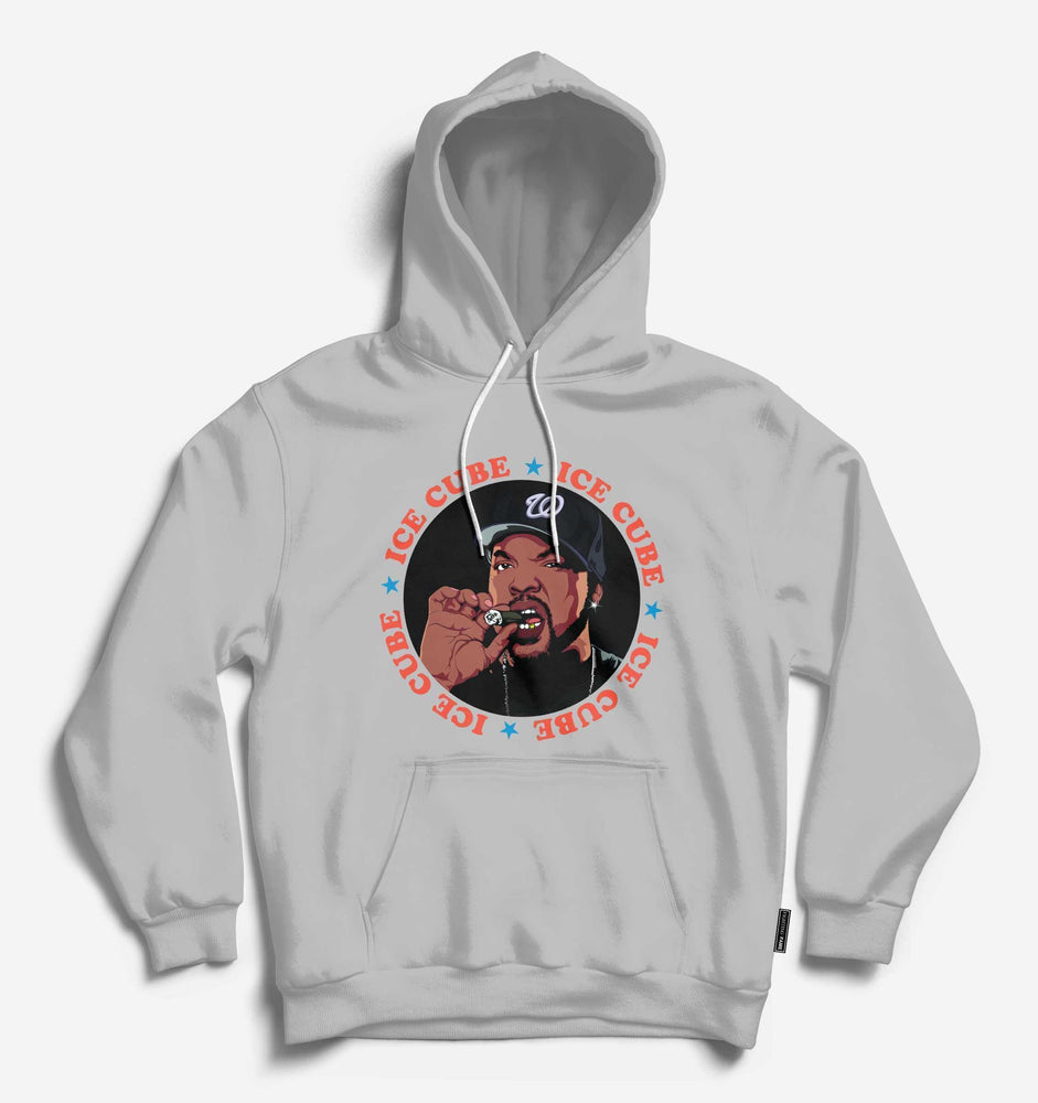 Fighting Fame Ice Cube Lt.Grey Hip Hop Hoodie