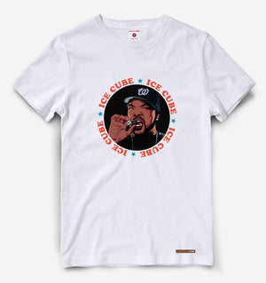 Fighting Fame Ice Cube White Hip Hop Tee