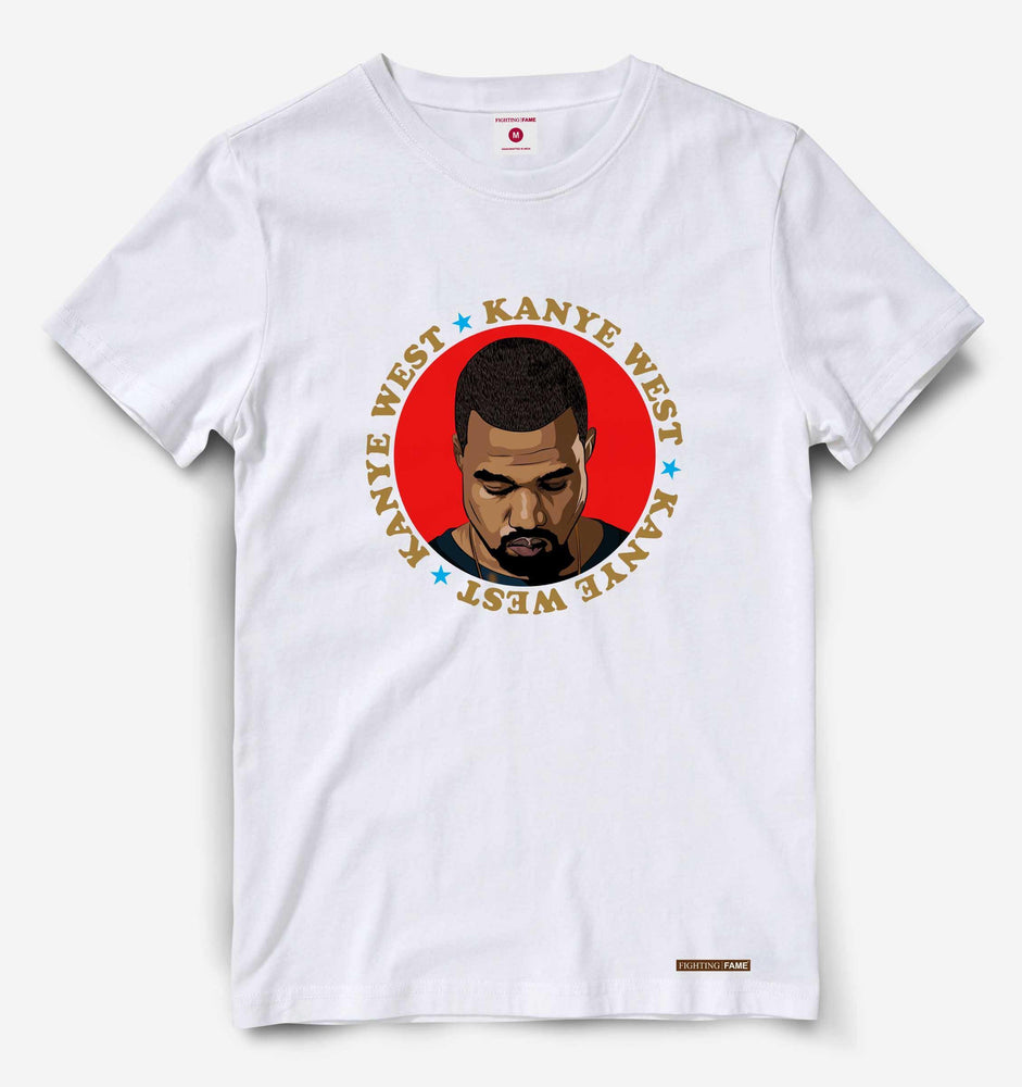 Fighting Fame Kanye West White Hip Hop Tee