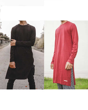 Fighting Fame Kurta Black Maroon Pack of 2
