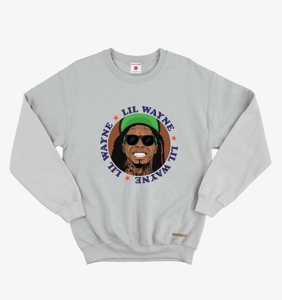 Fighting Fame Lil Wayne Lt.Grey Hip Hop Sweatshirt