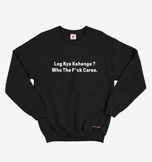 Log Kya Kahenge Black Sweatshirt