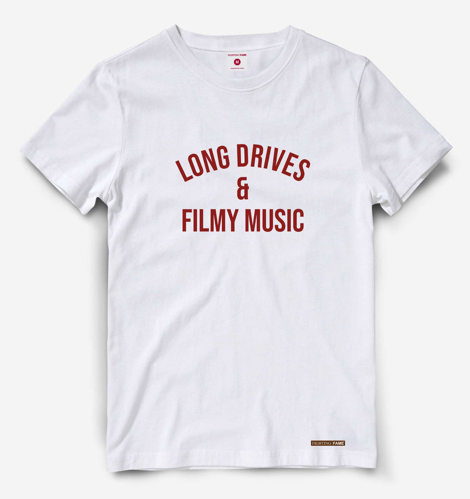 Long Drives & Filmy Music White Tee