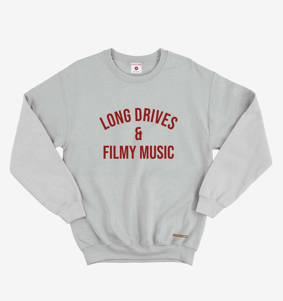 Long Drives & Filmy Music Lt.Grey Long Sleeve Tee