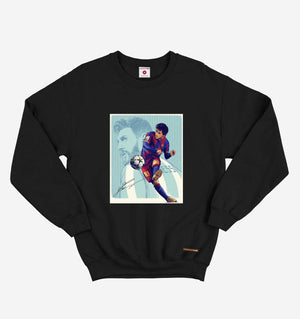 GOAT Lionel Messi Black Long Sleeve Tee