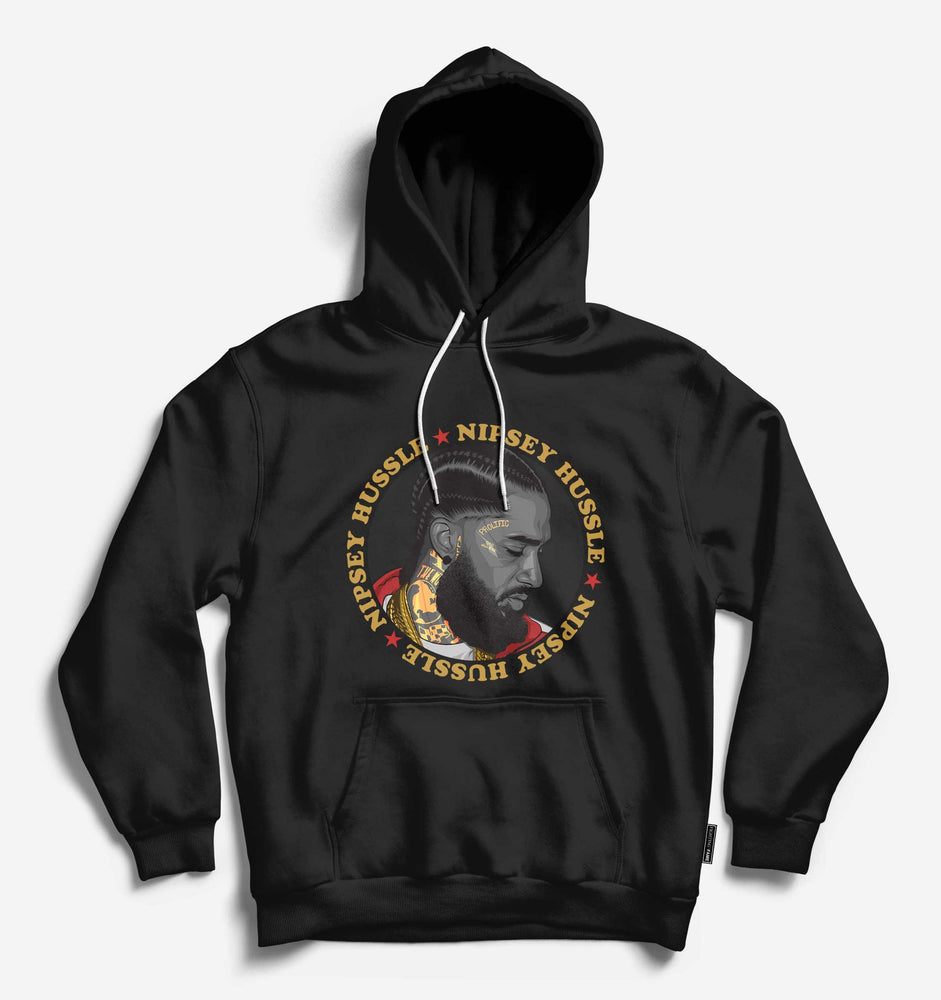 Fighting Fame Nipsey Hussle Black Hip Hop Hoodie