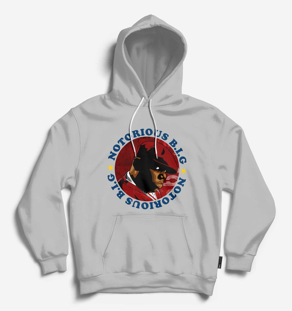 Fighting Fame Notorious Big Lt.Grey Hip Hop Hoodie