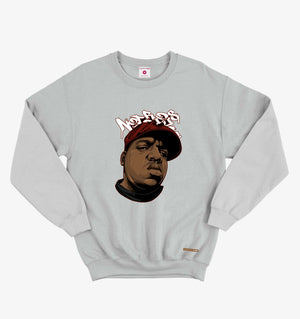 Notorious Big Lt.Grey Sweatshirt
