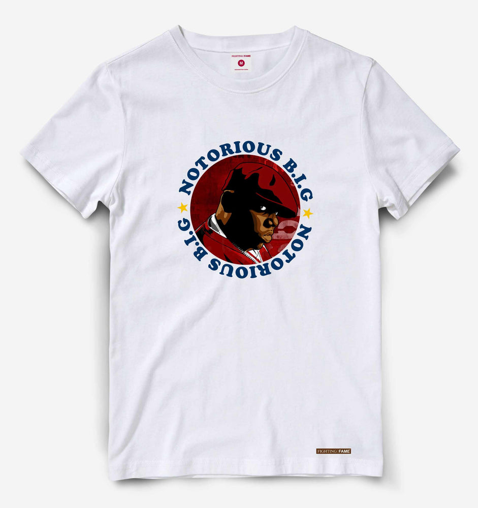 Fighting Fame Notorious Big White Hip Hop Tee