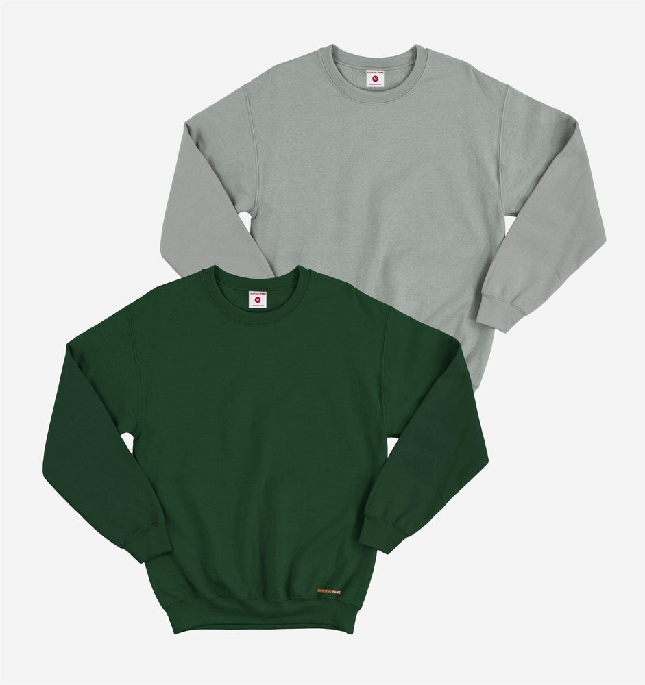 Grey And Olive Pack of 2 Full Sleeve Tees