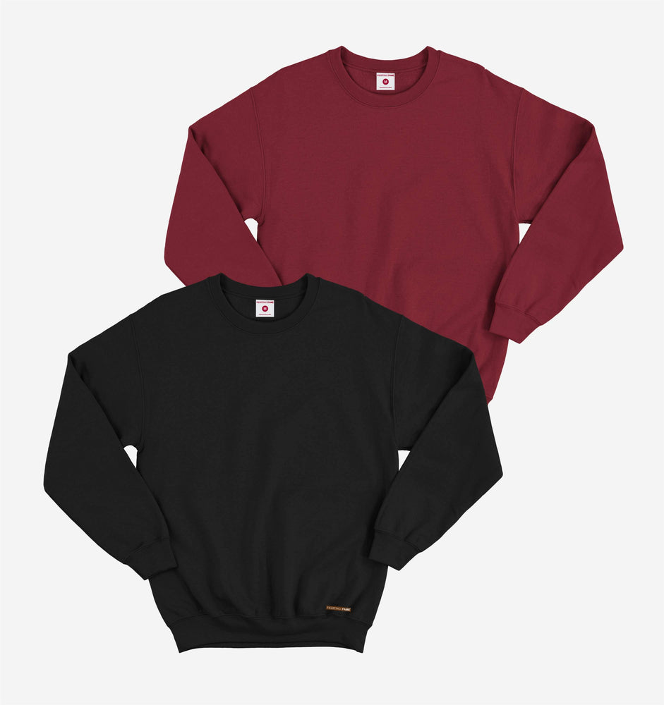 Maroon And Black Pack of 2 Full Sleeve Tees