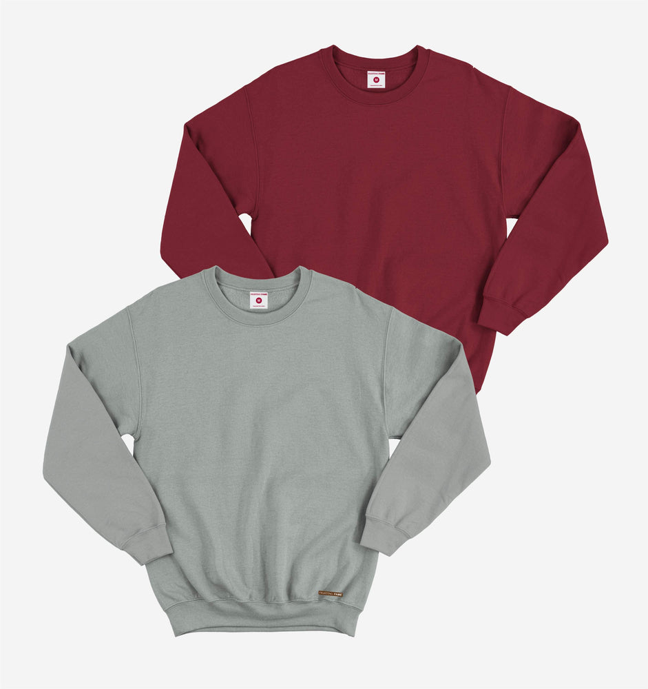 Maroon And Grey Pack of 2 Full Sleeve Tees
